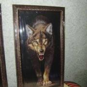 "Вышитая крестом картина ""Волчица"""