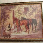 Вышитая картина Лошади купить Киев