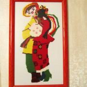 Вишита картина в українському стилі