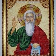 Вышитая икона Святой апостол Андрей Первозванный фото