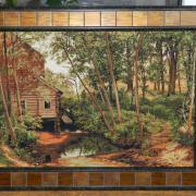 """Вышитая картина """"Мельница в лесу"""""""