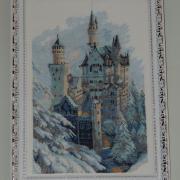 """Вышитая картина """"Зимний замок"""" купить Киев."""