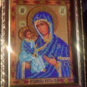 """Вышитая """"Иерусалимская икона Божьей Матери"""""""