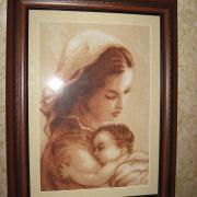 """Вышитая картина крестом """"Мать и дитя""""купить Киев"""