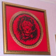 """Вишита картина хрестиком """"Могутність лева"""""""