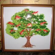 """Вишита картина бісером """"Грошове дерево"""" купити"""
