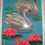 "Вишита картина ""Лебеді"" купити"
