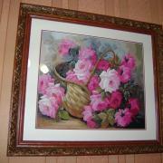 """Вишита картина """"Рожеве чудо"""" купити"""