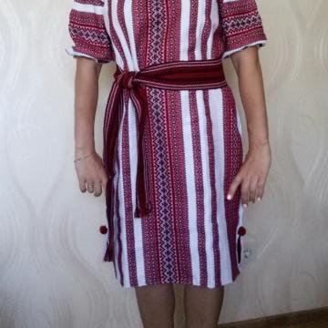 Українська сукня ткана з вишивкою