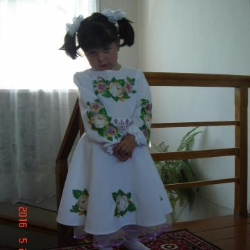 """Дитяче плаття вишиванка """"Чайна троянда"""""""
