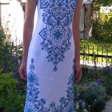 """Стильна вишита сукня з відкритими плечима """"Муза"""""""