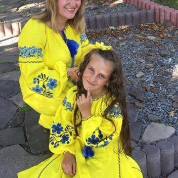 "Ніжна лимонна сукня бохо ""Незабудка"""
