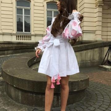 """Жіноча сукня бохо з вишивкою гладінню """"Розалія"""""""