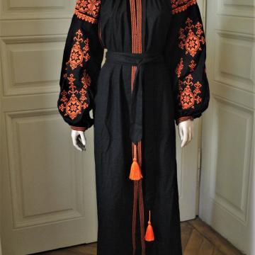 """Яскраве жіноче вишите плаття бохо """"Оранж"""""""