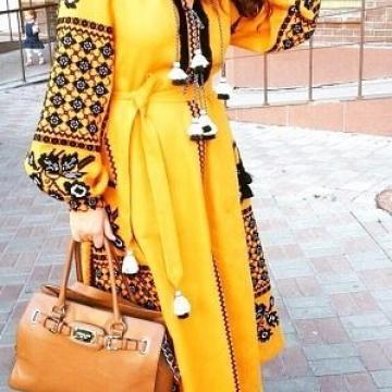 """Елегантна сукня вишиванка в стилі бохо """"Сонце"""""""