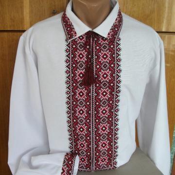 """Чоловіча сорочка вишиванка з коміром """"Алатир"""""""